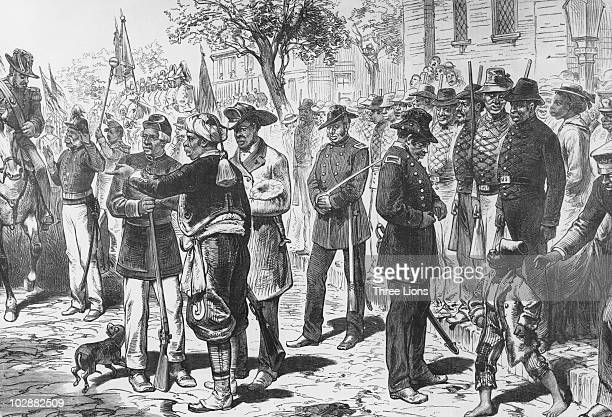 Former slaves celebrate Emancipation Day in Charleston South Carolina a year after the end of the American Civil War 1st August 1866