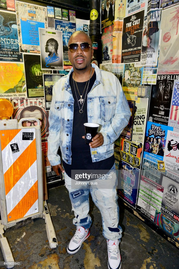 E., formerly Noreaga backstage during 'Freddy Vs Jason Tour' at Revolution Live on March 2, 2017 in Fort Lauderdale, Florida.