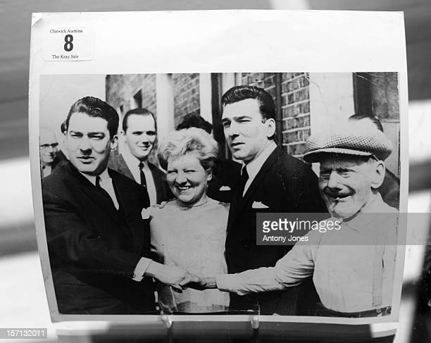 Formerly The Property Of Reggie Kray A Sixties Black And White Photograph A Family Group With Charlie Kray Senior And Violet Their Mother Is...