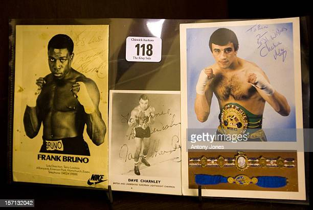 Formerly The Property Of Ronnie Kray Three Colour Photographs Two Dedicated To Ronnie From Frank Bruno Charlie Magree Are Displayed As Personal...
