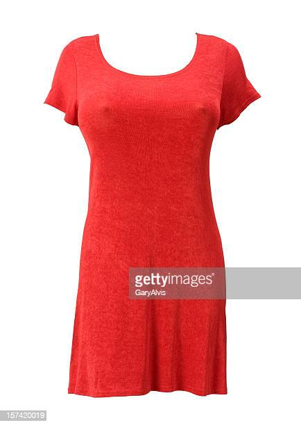 Formfitting red dress-isolated on white w/clipping path