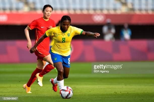 Formiga of Brazil during the Tokyo 2020 Olympic Football Tournament match between China and Brazil at Miyagi Stadium on July 21, 2021 in Rifu, Japan