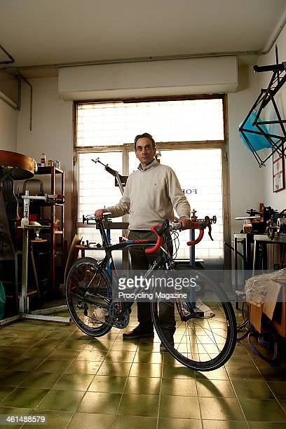 Formigli Bikes founder Renzo Formigli photographed in his Florence workshop, on February 14, 2012.