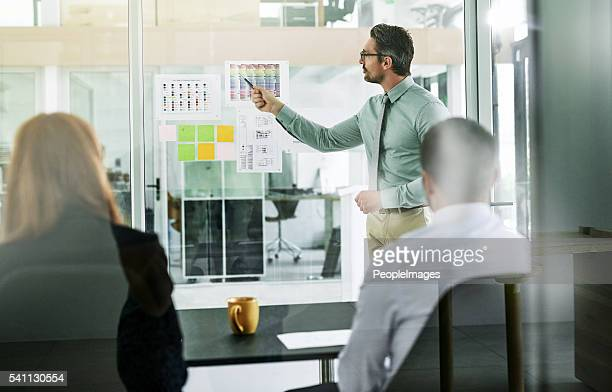 forming an action plan for their new project - business strategy stock photos and pictures