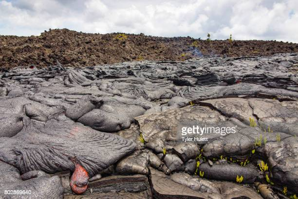 forming pillow lavas on hawaii - pele goddess stock pictures, royalty-free photos & images