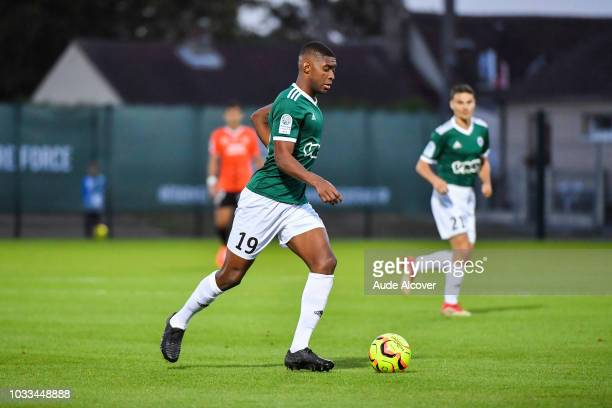 Formose Mendy of Red Star during the French Ligue 2 match between Red star and Lorient at Stade Pierre Brisson on September 14 2018 in Beauvais France