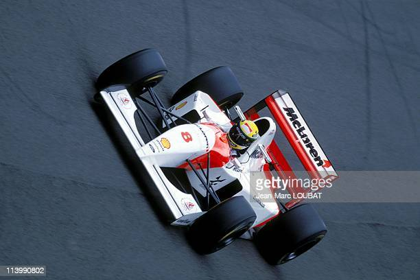 Formula 1 50th victory of Alain Prost at England Grand Prix in Silverstone United Kingdom on July 11 1993Ayrton Senna