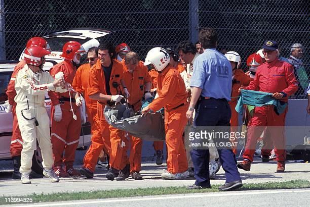 Formula 1/ accident of Ayrton Senna in Imola Italy on May 01 1994Crash of Senna