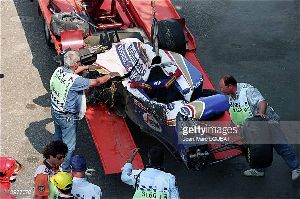 Formula 1/ accident of Ayrton Senna in Imola Italy on May 01 1994The car of Senna after the crash