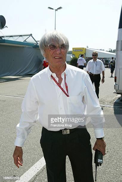 Formula 1 boss Bernie Ecclestone at the Formula 1 race at the Hockenheimring