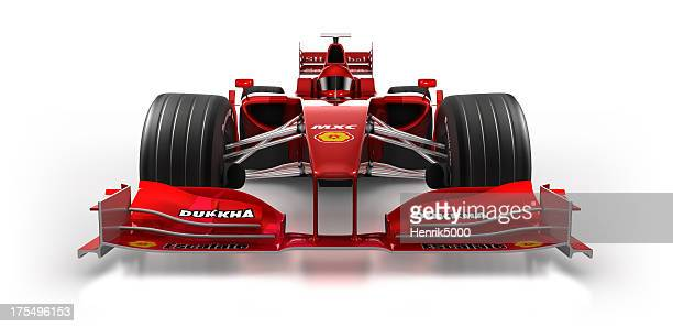 Formula 1 car in studio - isolated on white/clipping path