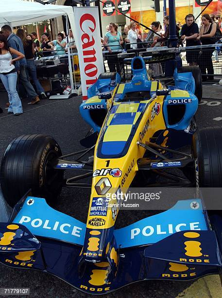 Formula 1 car is used by the Metropolitan Police to reiterate the need for safe driving at The Regent Street Festival A Walk Through Spain on...
