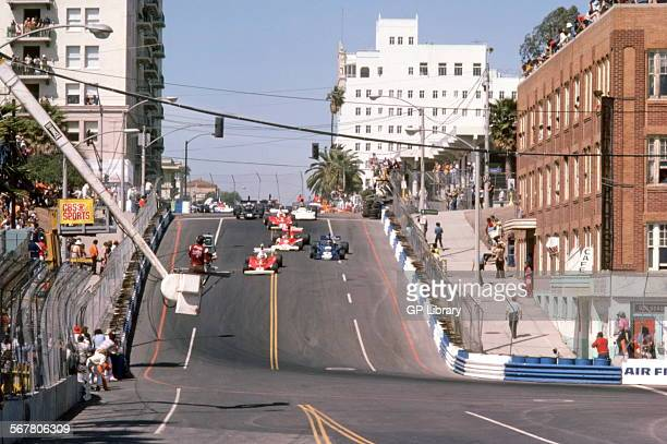 Formula 1 cars racing in the US GP West Long Beach USA 1976