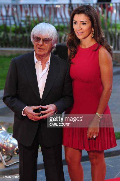 Formula 1 chief executive Bernie Ecclestone and his Brazilian wife Fabiana Flosi attend the world premiere of Rush in central London on September 2,...