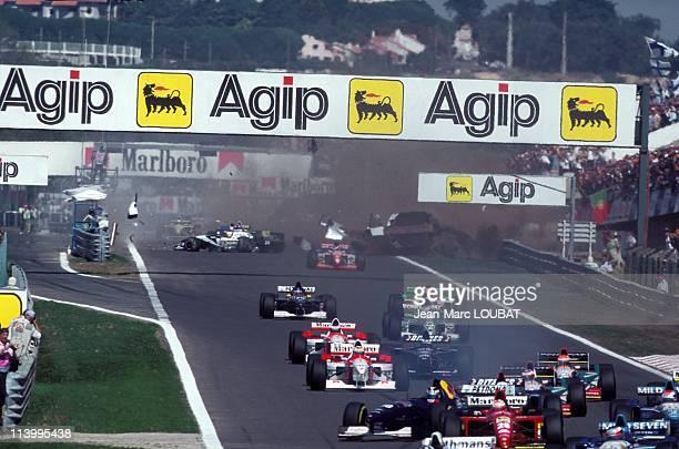 Formula 1: David Coulthard wins the Portugal Grand Prix in Estoril, Portugal on September 24, 1995-Accident Katayama/Badoer.