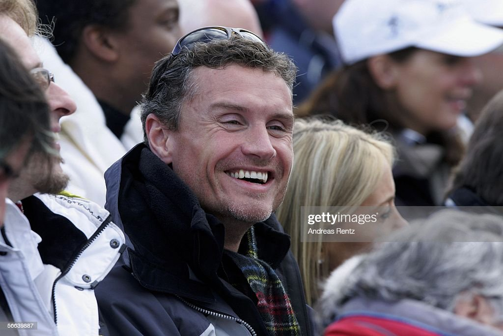 Formula 1 driver David Coulthard attends at the Hahnenkamm Race on January 21, 2006 in Kitzbuehel, Austria