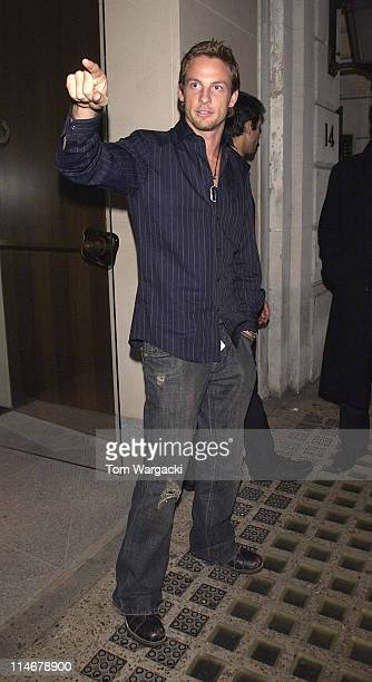 Formula 1 driver Jenson Button at Nobu in London on November 5 2005