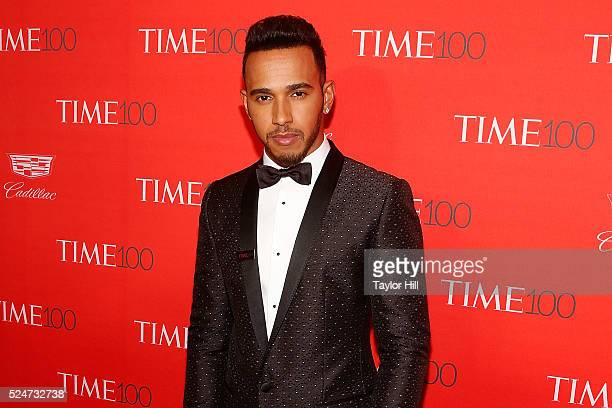 Formula 1 driver Lewis Hamilton attends the 2016 Time 100 Gala at Frederick P Rose Hall Jazz at Lincoln Center on April 26 2016 in New York City