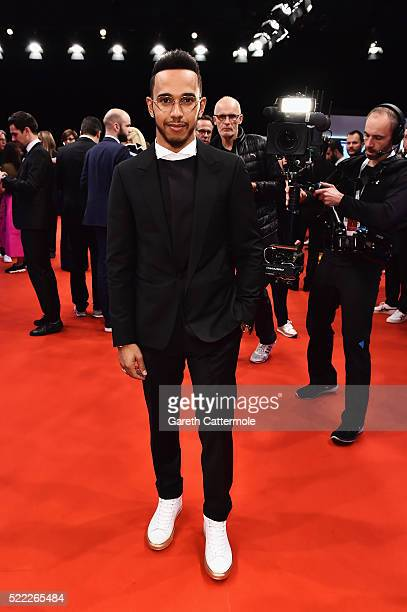 Formula 1 driver Lewis Hamilton of Great Britain and Mercedes TeamLaureus World Sportsmen of the Year Award nominee attends the 2016 Laureus World...