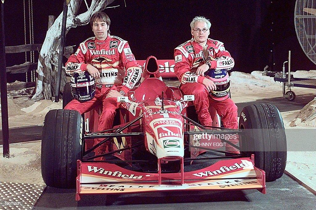Formula 1 drivers Heinz-Harald Frentzen and Canadi : News Photo
