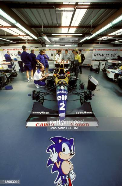 Formula 1 Grand Prix in Spa Belgium on August 29 1993Williams of Alain Prost