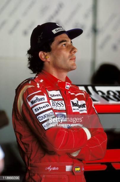 Formula 1: Grand Prix in Suzuka, Japan on Octorber 23, 1993-Ayrton Senna.