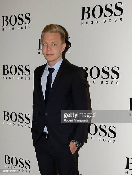 Formula 1 McLaren Mercedes driver Kevin Magnussen attends a photocall at the 'Hugo Boss' store on May 8 2014 in Barcelona Spain