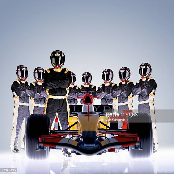 Formula 1 Race Car with Driver