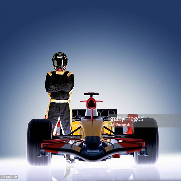 Formula 1 Racecar with driver