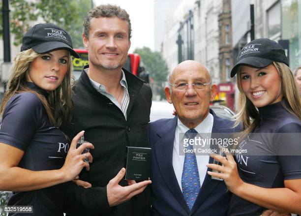 Formula 1 racing driver David Coulthard launches the new men`s lifestyle fragrance `Pole Position` along with British motor racing legend Sir...