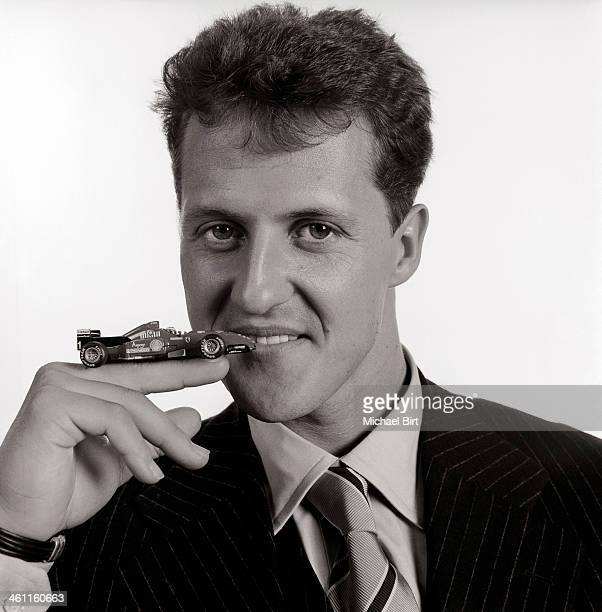 Formula 1 racing driver Michael Schumacher is photographed on October 16 1996 in London England