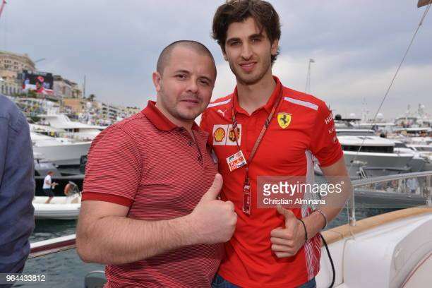 Formula 1 Third Driver for Scuderia Ferrari Antonio Giovinazzi is seen on Kaspersky Lab Hospitality Yacht during the Monaco Grand Prix 2018 Kaspersky...