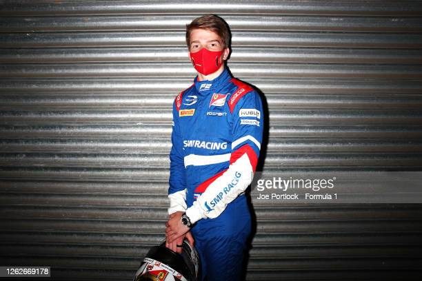 Formula 2 Feature race winner in Hungary, Robert Shwartzman of Russia and Prema Racing, poses for a photo during previews ahead of the Formula 2...