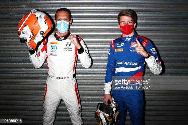 Formula 2 Feature race winner in Hungary, Robert Shwartzman of Russia and Prema Racing and sprint race winner Luca Ghiotto of Italy and Hitech Grand...