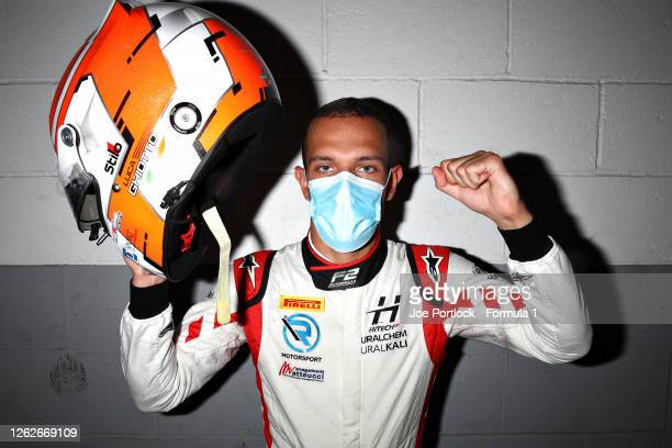 Formula 2 Sprint race winner in Hungary, Luca Ghiotto of Italy and Hitech Grand Prix poses for a photo during previews ahead of the Formula 2...