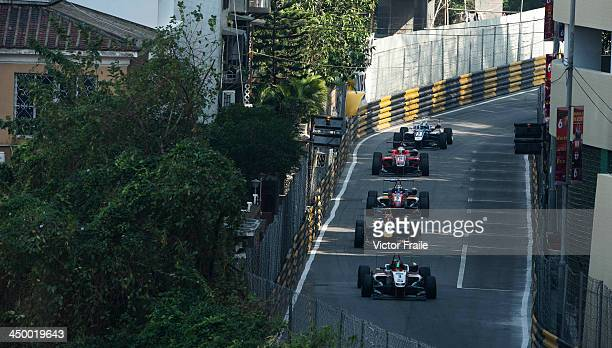 Formula 3 drivers in action during the qualification race ahead the 60th Macau Grand Prix on November 16 2013 in Macau Macau