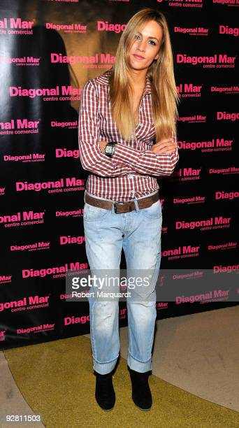 Formula 3 race car driver Carmen Jorda attends a photocall for Mini Cooper at the Diagonal Mar commercial center on November 5, 2009 in Barcelona,...