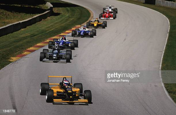 Formula Atlantic driver Alex Figge leads the pack in one of the identical Reynard Dodge V6s during the Toyota Atlantic Championship Round 10 for the...