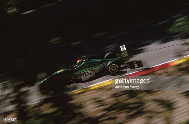 Formula Atlantic driver Dave Cutler drives one of the identical Reynard Dodge V6s during the Toyota Atlantic Championship Round 10 for the official...