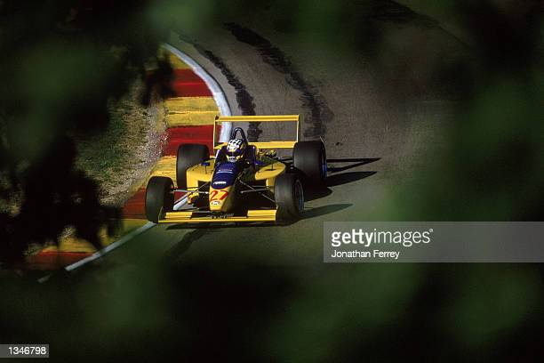 Formula Atlantic driver Joey Hand drives one of the identical Reynard Dodge V6s during the Toyota Atlantic Championship Round 10 for the official...
