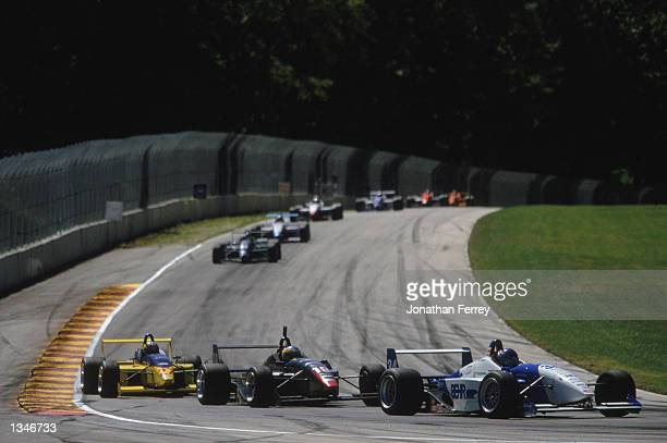 Formula Atlantic driver Jon Fogarty leads the pack in one of the identical Reynard Dodge V6s during the Toyota Atlantic Championship Round 10 for the...