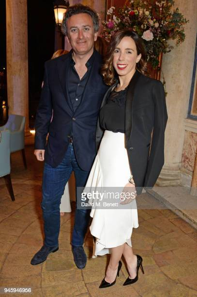 Formula E CEO Alejandro Agag and Ana Aznar Botella attend the Formula E cocktail party in the Italian capital ahead of the firstever EPrix in Rome at...