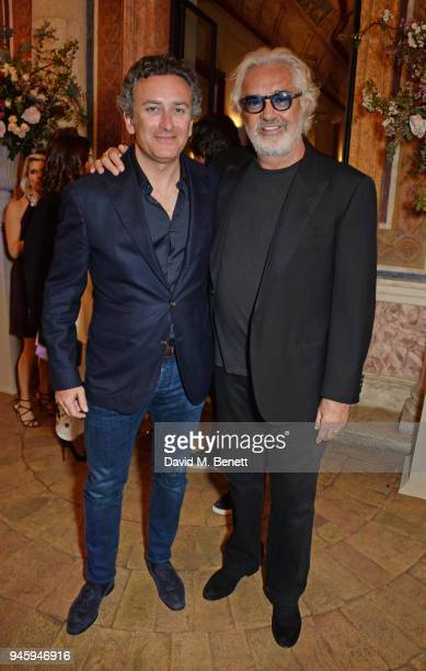 Formula E CEO Alejandro Agag and Flavio Briatore attend the Formula E cocktail party in the Italian capital ahead of the firstever EPrix in Rome at...