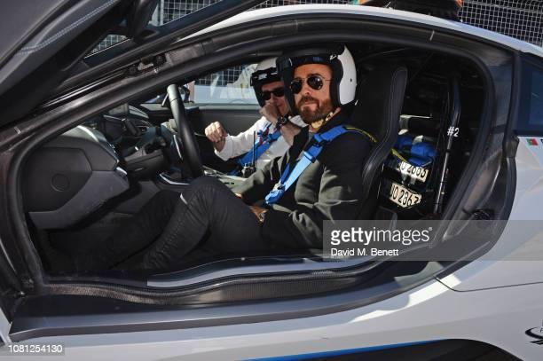 Formula E CEO Alejandro Agag and Justin Theroux attend the ABB FIA Formula E 2019 Marrakesh EPrix on January 12 2019 in Marrakesh Morocco