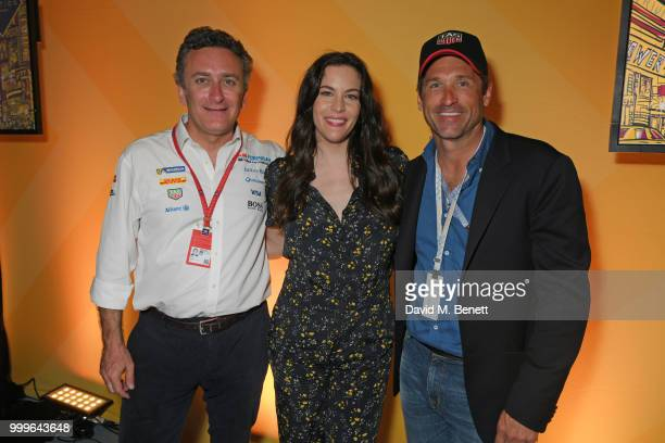 Formula E CEO Alejandro Agag Liv Tyler and Patrick Dempsey attend the Formula E 2018 Qatar Airways New York City EPrix the double header season...