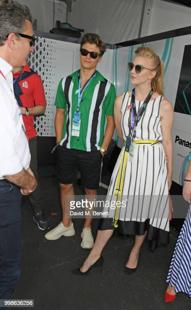 Uma Thurman and daughter Luna ThurmanBusson attend the Formula E 2018 Qatar Airways New York City EPrix the double header season finale of the...