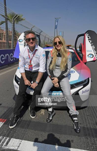 Formula E Chairman Alejandro Agag and Ellie Goulding attend The ABB FIA Formula E 2020 Marrakesh EPrix on February 29 2020 in Marrakesh Morocco