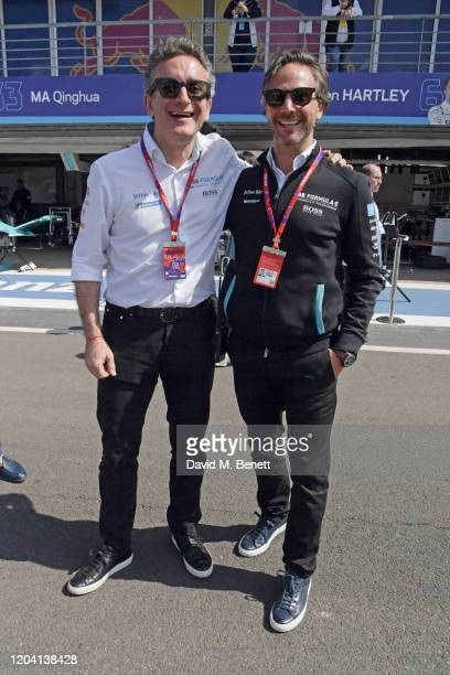 Formula E Chairman Alejandro Agag and Formula E CEO Jamie Reigle attend The ABB FIA Formula E 2020 Marrakesh EPrix on February 29 2020 in Marrakesh...
