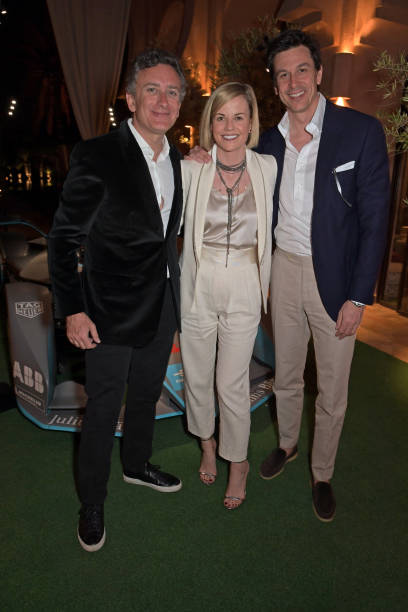 Formula E Chairman Alejandro Agag Susie Wolff and Toto Wolff attend The ABB FIA Formula E Mad Hatters Moroccan Tea Party in celebration of the 2020...