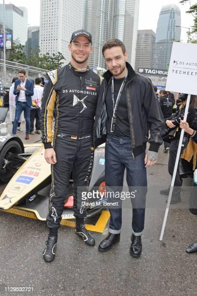 Formula E racing driver Andre Lotterer and Liam Payne attend the ABB FIA Formula E HKT Hong Kong EPrix on March 10 2019 in Hong Kong